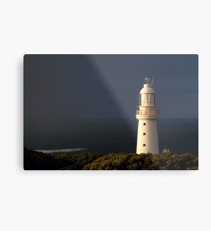Sunrise Rain, Light Station Cape Otway on Bass Strait Metal Print