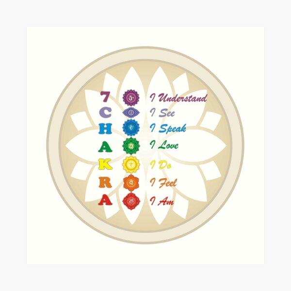 7 afirmaciones de los chakras Lámina artística
