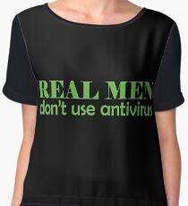 Real Men don't use antivirus Chiffon Top