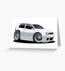 Cartoon Car VW Greeting Card