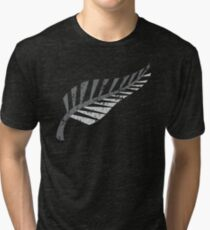 Silver fern distressed  Tri-blend T-Shirt