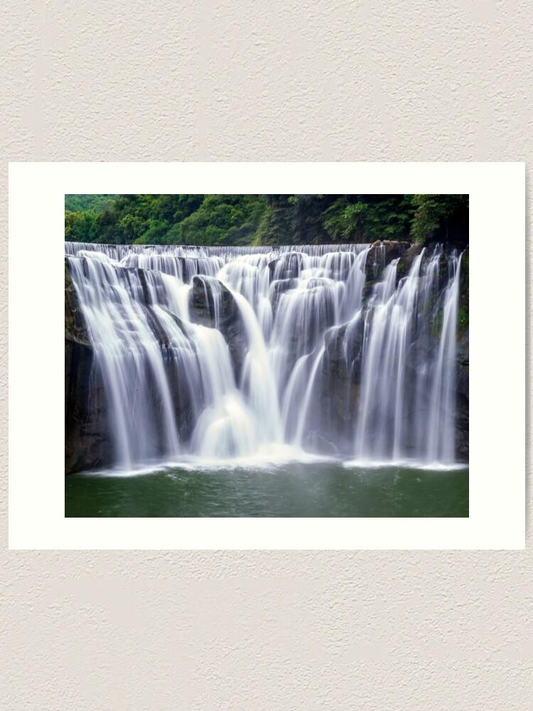 Alternate view of Shifen Waterfalls, Pingxi in Taiwan Art Print