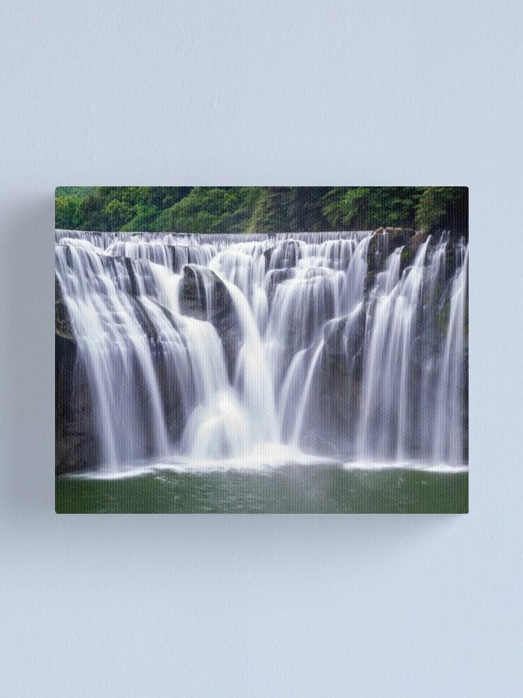 Alternate view of Shifen Waterfalls, Pingxi in Taiwan Canvas Print