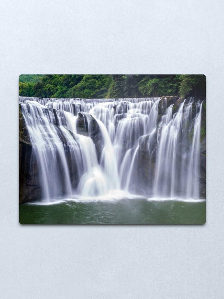 Alternate view of Shifen Waterfalls, Pingxi in Taiwan Metal Print