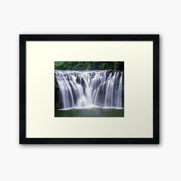 Shifen Waterfalls, Pingxi in Taiwan Framed Art Print