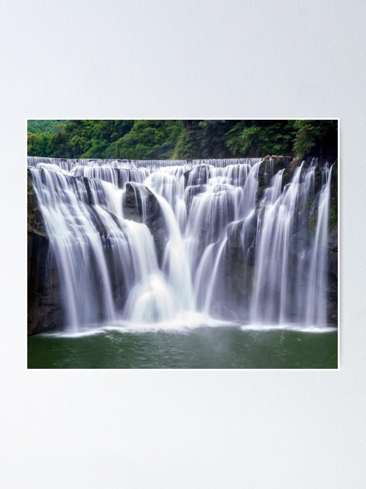 Alternate view of Shifen Waterfalls, Pingxi in Taiwan Poster