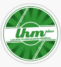 Citroen LHM - Liquid Hydraulic Mineral Suspension Fluid logo Sticker