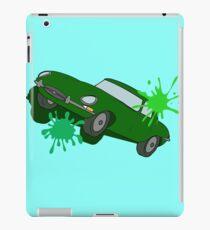 Classic Car Green Splatter iPad Case/Skin
