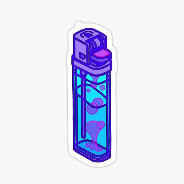 Lava Lamp Lighter Neon Sticker