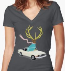 The Stag Women's Fitted V-Neck T-Shirt