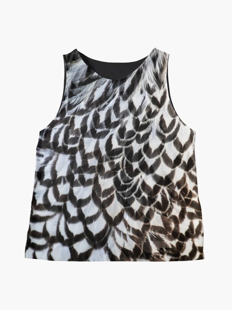 Alternate view of Silver Laced Wyandotte Feathers Sleeveless Top