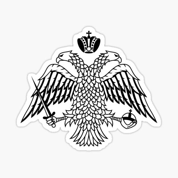Christian Orthodox Double Headed Eagle Emblem Sticker