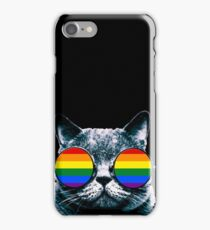 Gay Cat with Sunglasses iPhone Case/Skin
