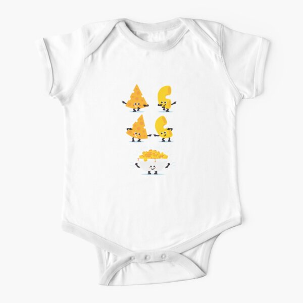 Character Fusion - Mac N Cheese Short Sleeve Baby One-Piece