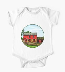 Red Barn with Fence Kids Clothes