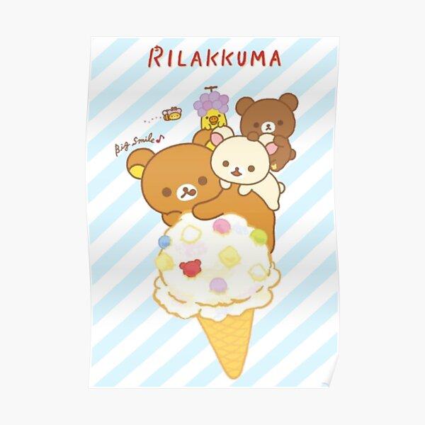 Cute Rilakkuma Ice cream Poster