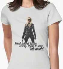 Dinah Laurel Lance Womens Fitted T-Shirt