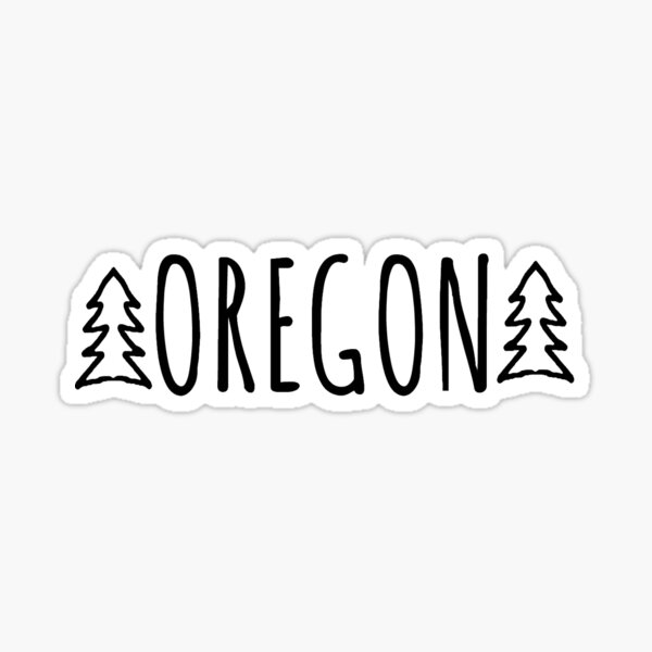 Two Trees Oregon - White Sticker