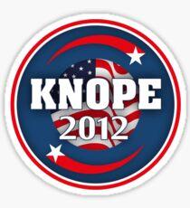 knope 2012 sticker Sticker