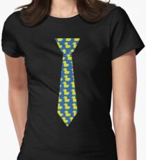 Ducky tie Women's Fitted T-Shirt