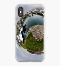 Hurry Head Harbour, Carnlough, County Antrim - Sky out iPhone Case