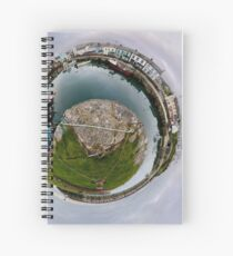 Hurry Head Harbour, Carnlough, County Antrim - Sky out Spiral Notebook