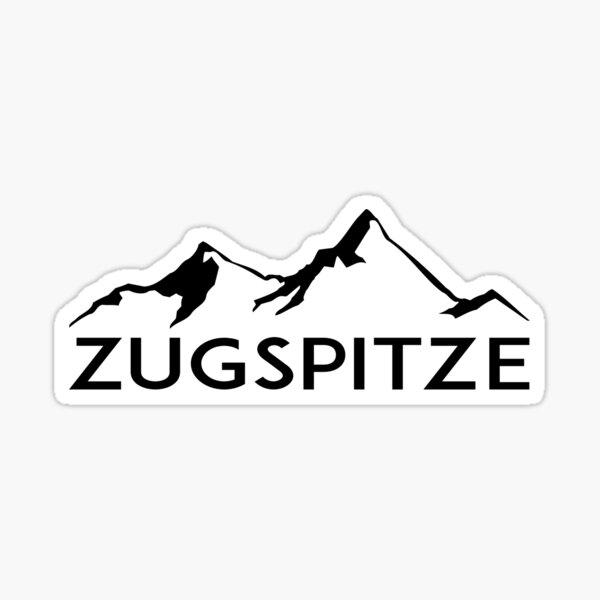 ZUGSPITZE Deutschland Bayern Ski Skiberge Deutschland Sticker