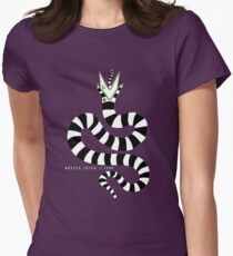 beetlejuice - sandworm Women's Fitted T-Shirt