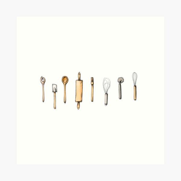 Baking utensils Art Print