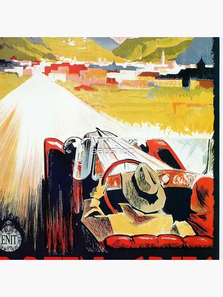 Vintage Italian travel, classic convertible car, Bozen-Gries by aapshop
