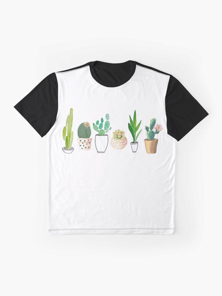 Alternative Ansicht von Potted Cacti Grafik T-Shirt