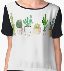 POTTED CACTI Women's Chiffon Top