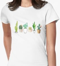 POTTED CACTI Women's Fitted T-Shirt