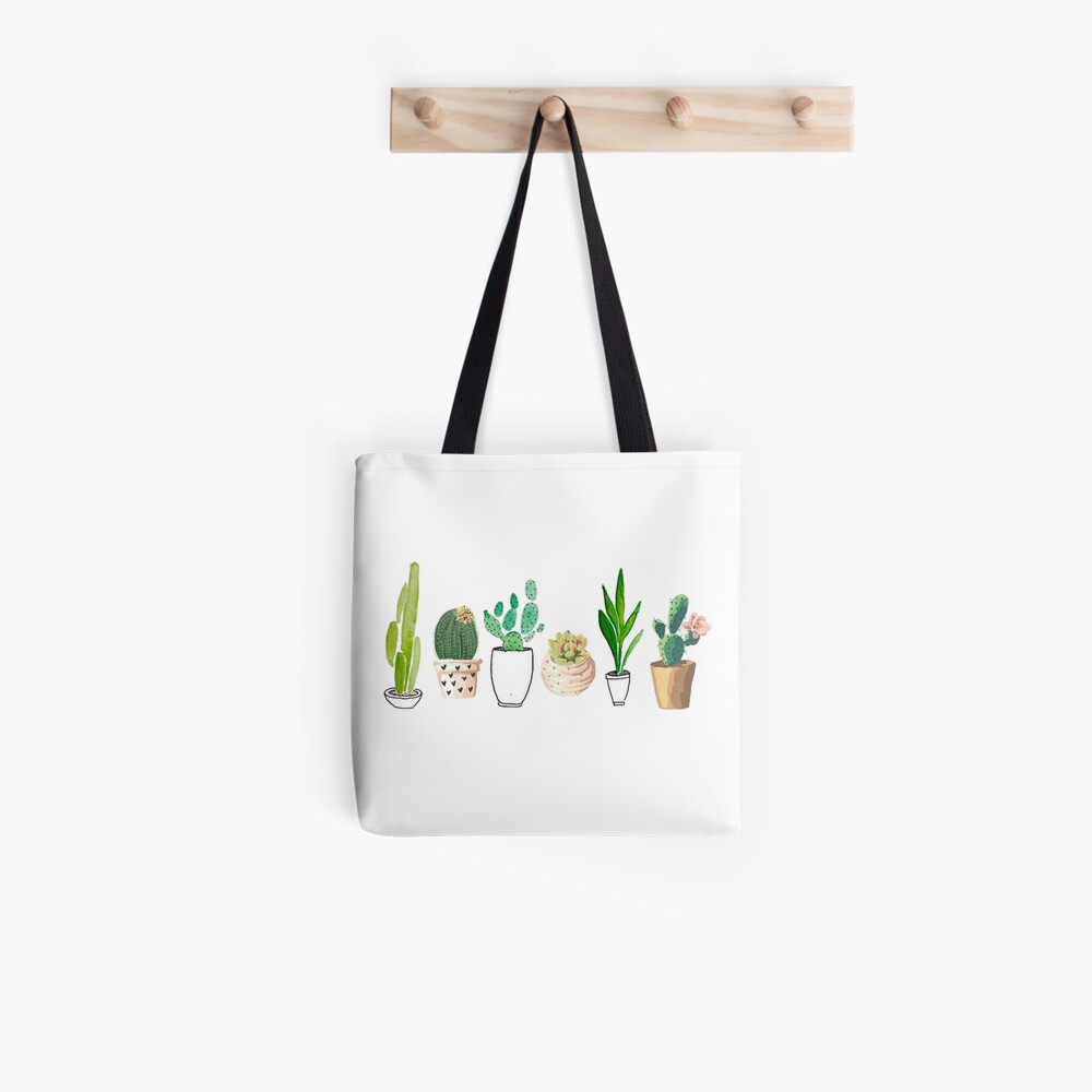 Potted Cacti Tote Bag