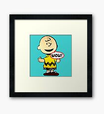 Charlie Brown Wow Framed Print
