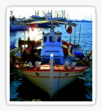 Greek fishing boat Sticker