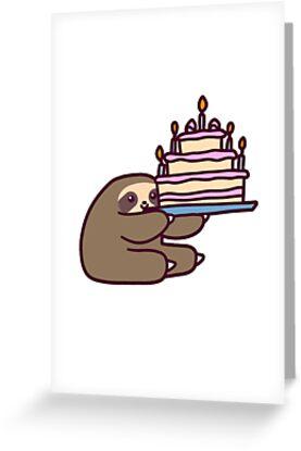 «Pastel de cumpleaños Sloth» de SaradaBoru