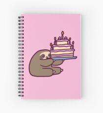 Cuaderno de espiral Pastel de cumpleaños Sloth