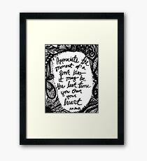Quote, R.M. Drake (2) Framed Print