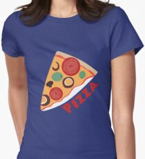 Dewey's Pizza Shirt Womens Fitted T-Shirt