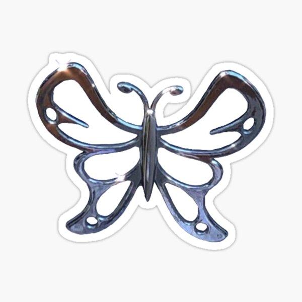 papillon chromé Sticker