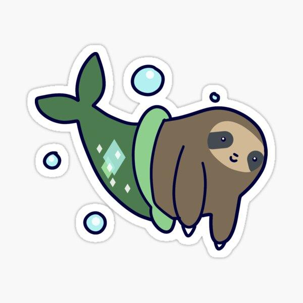 Mermaid Sloth Sticker