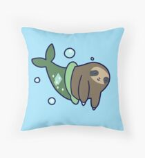 Mermaid Sloth Throw Pillow