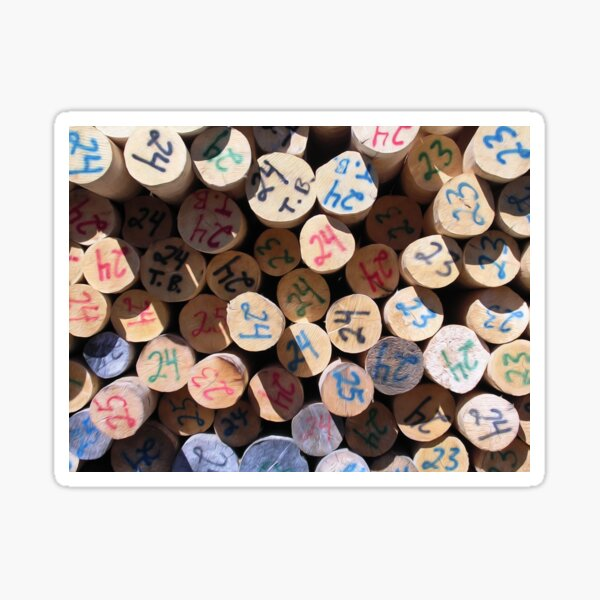 Timber Pile Of Logs Logging Industry Wood Background Wood Logs Logs At Sawmill  Sticker