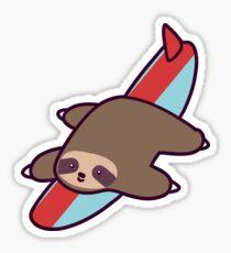 Surfing Sloth Sticker