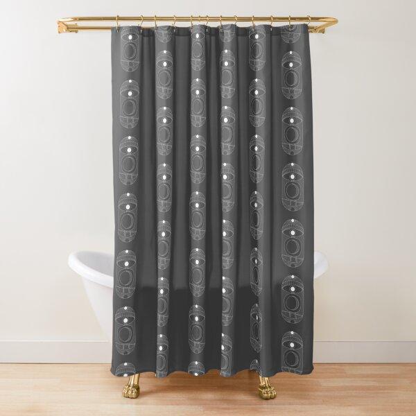 Dimensions (minimal line art) Shower Curtain