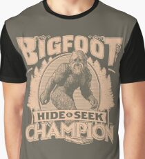 Bigfoot - Hide & Seek Champion Graphic T-Shirt