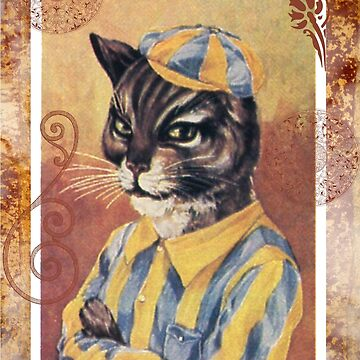 Victorian Cat Jockey Horse Racing by designsbycclair