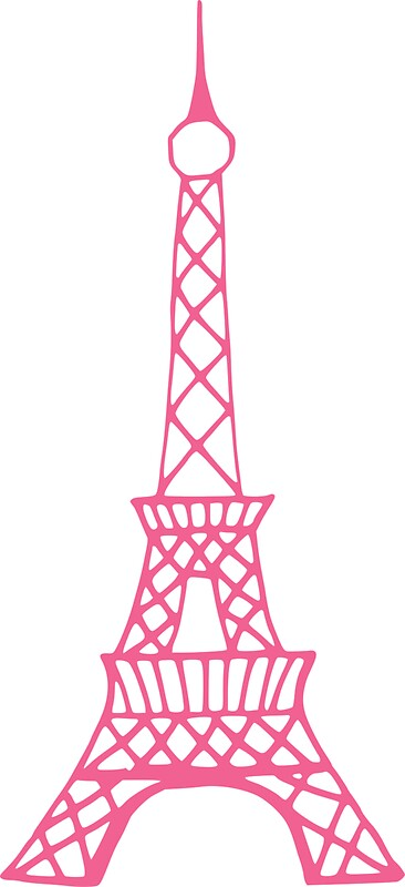 Pink Eiffel Tower By Suncookiez