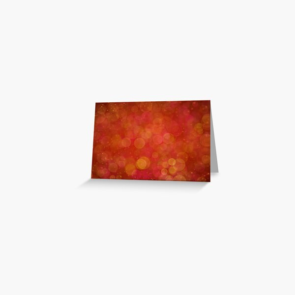 Red Bokeh Abstract Sparkles Greeting Card